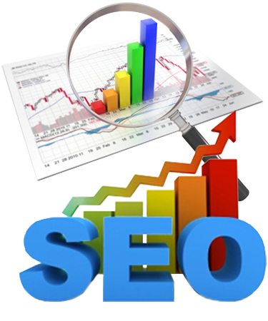SEO optimization, chart and performance indicator